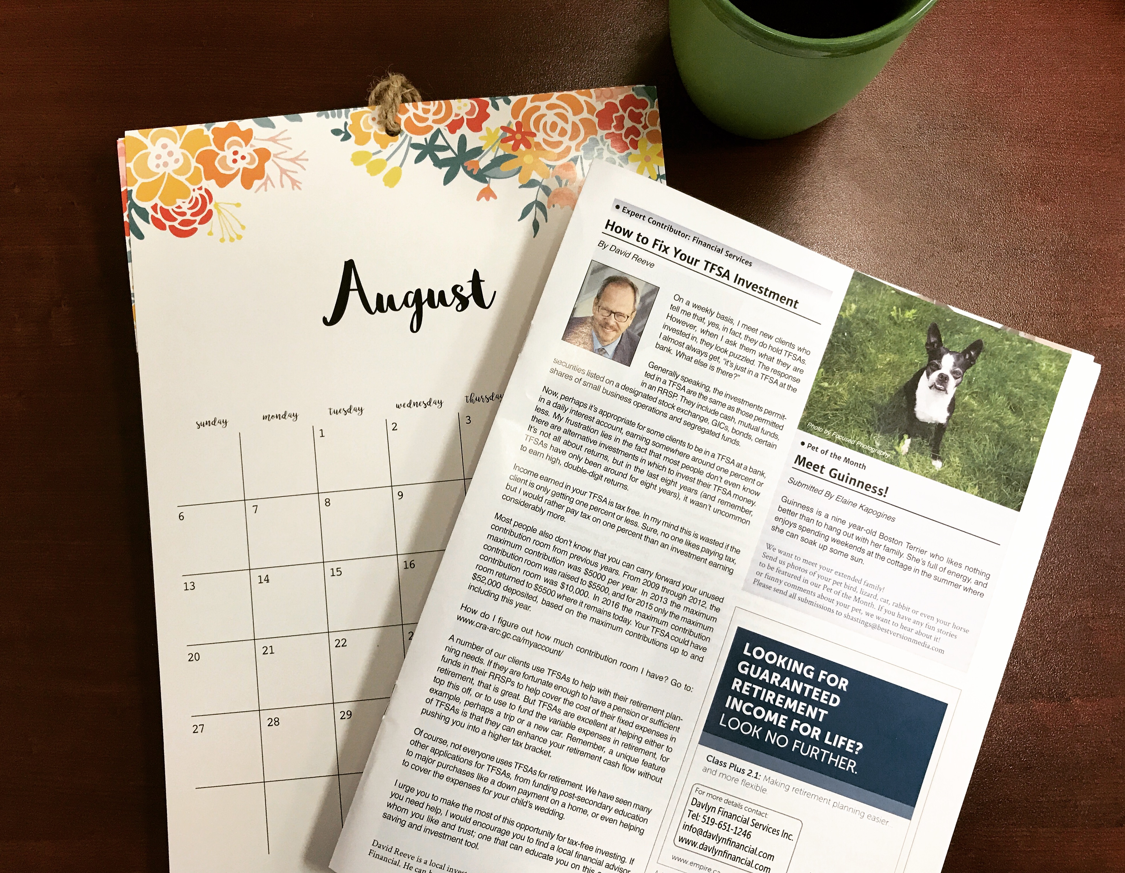 Davlyn Financial in Hespeler Magazine's August Edition: How